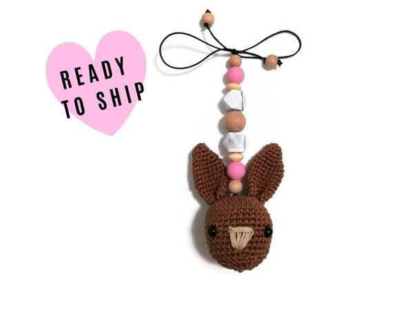 Maxi Cosi Pendant crochet Bunny • maxicosikette • Baby Shell Pendant • Amigurumi Bunny • Pendant baby carrier • Trailer • baby bowl •