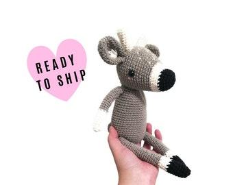Handmade Crochet Amigurumi Deer • amigurumi reindeer • stuffed animal PICA PAU Elena • soft toy • woodland • forest animal • Ready To Ship
