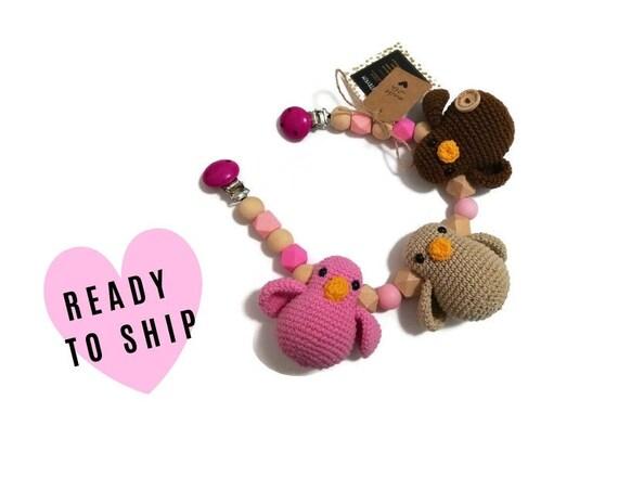 STROLLER CHAIN • amigurumi birds • woodland animals • amigurumi • crochet pram garland • kinderwagenkette • wagenspanner • Ready To Ship
