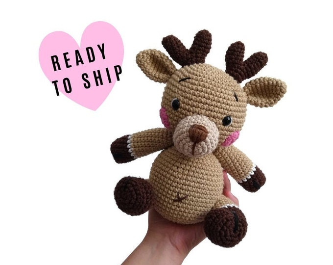 Handmade Crochet Amigurumi Deer Sweety • reindeer • stuffed animal • soft toy • woodland • forest animal • Christmas • READY TO SHIP