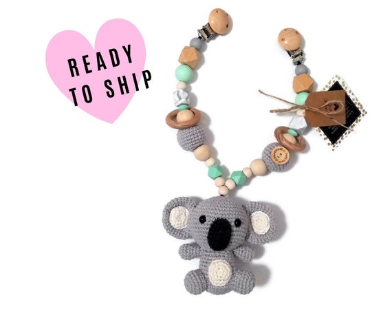 STROLLER CHAIN • koala • Australian animals • amigurumi • crochet pram garland • kinderwagenkette • wagenspanner • Ready To Ship