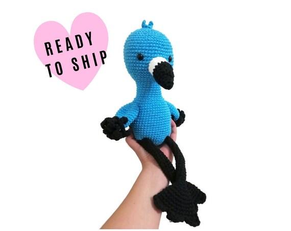 Handmade crochet large Amigurumi flamingo • Australian Animal • Flamingo Gift • Large Amigurumi • Tropical Bird • READY TO SHIP