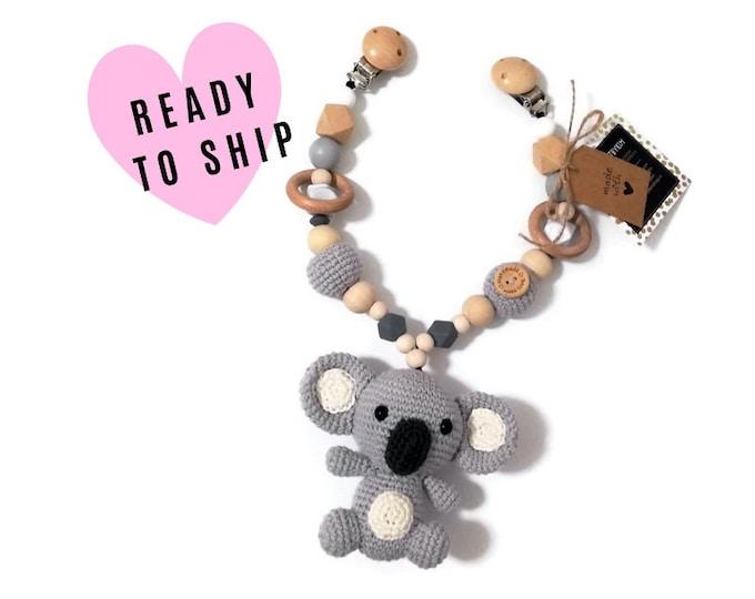STROLLER CHAIN • koala • Australian animals • amigurumi • crochet pram garland • kinderwagenkette • wagenspanner • Ready To Ship