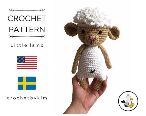 CROCHET PATTERN - Little Lamb - amigurumi sheep - doll - stuffed animal - farm animals - lamb softie - amigurumi animal - crochetbykim
