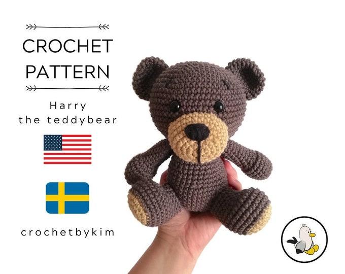crochet pattern - HARRY the teddy bear - classic bear - amigurumi pattern - Plush Teddy Bear - stuffed animal - woodland - crochetbykim