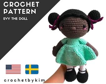 AMIGURUMI DOLL PATTERN • Evy the doll • crochet pattern • Instant Download • interior doll pattern • crochetbykim