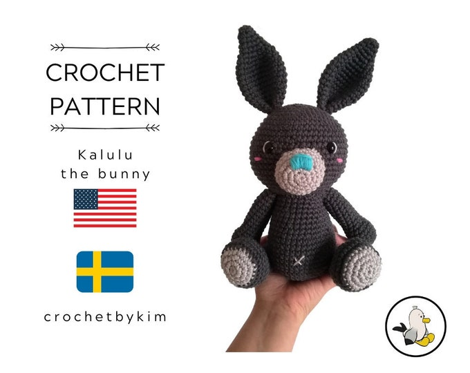 AMIGURUMI CROCHET PATTERN - Kalulu the bunny - amigurumi rabbit - stuffed animal - diy - easter bunny pattern - hare - crochetbykim