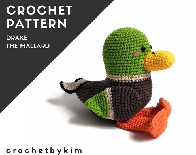 Crochet pattern - Drake the Mallard - PDF pattern - Swedish & English (US terms)