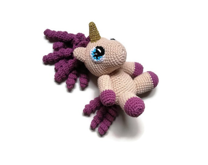 Handmade crochet unicorn - colorful - amigurumi pony - gift for girls - unicorn toy - unicorn plushie - stuffed pony - READY TO SHIP