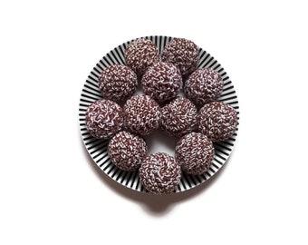 Crochet amigurumi swedish pastry chocolate ball - Crochet food - Educational toys - Pretend food - Kids party - playfood - Crochet sweets