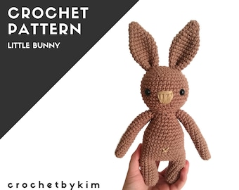 CROCHET PATTERN - little bunny - amigurumi pattern - stuffed bunny - plush rabbit - handmade bunny - rabbit - pdf
