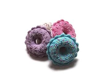 Crochet amigurumi donut - Crochet food - Educational toys - Pretend food - Kids party - playfood - Crochet sweets - READY TO SHIP