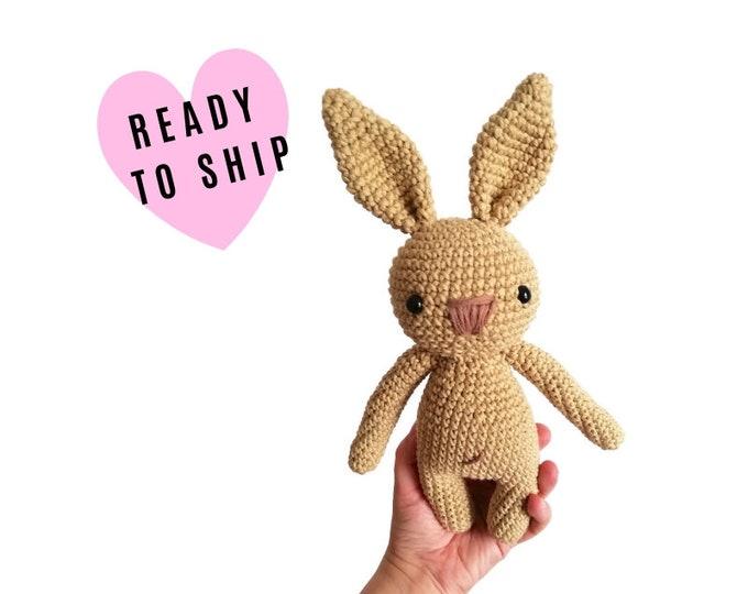 Handmade crochet amigurumi bunny • stuffed animal • easter bunny • plush • cotton toy • rabbit doll • newborn gift • READY TO SHIP
