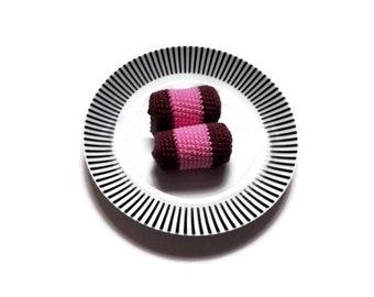 Crochet amigurumi Swedish pastry vacuum cleaner - Crochet food - Educational toys - Pretend food - Kids party - playfood - Crochet sweets