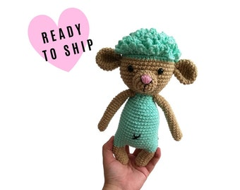 Handmade Crochet Lamb - amigurumi sheep - crochet sheep toy - farm lover - plushie sheep - stuffed lamb - READY TO SHIP