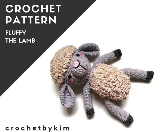 CROCHET PATTERN - Fluffy the lamb - amigurumi sheep - doll - stuffed animal - farm animals - lamb softie - amigurumi animal - crochetbykim