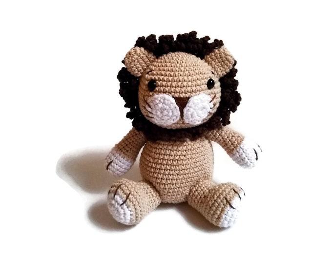 crochet lion - woodland animal - jungle animal - zoo - cotton toy - knitted lion - stuffed animal - amigurumi lion -