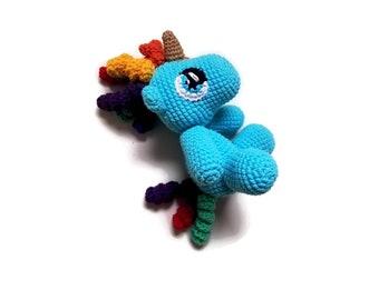 Handmade crochet unicorn - colorful - amigurumi pony - gift for girls - unicorn toy - unicorn plushie - stuffed pony - READY TO SHIP