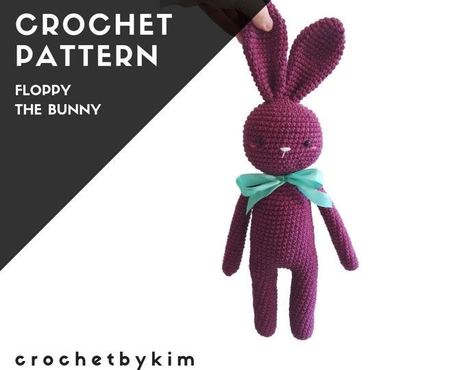 CROCHET PATTERN - FLOPPY the bunny - amigurumi pattern - stuffed bunny - plush rabbit - handmade bunny - rabbit - pdf