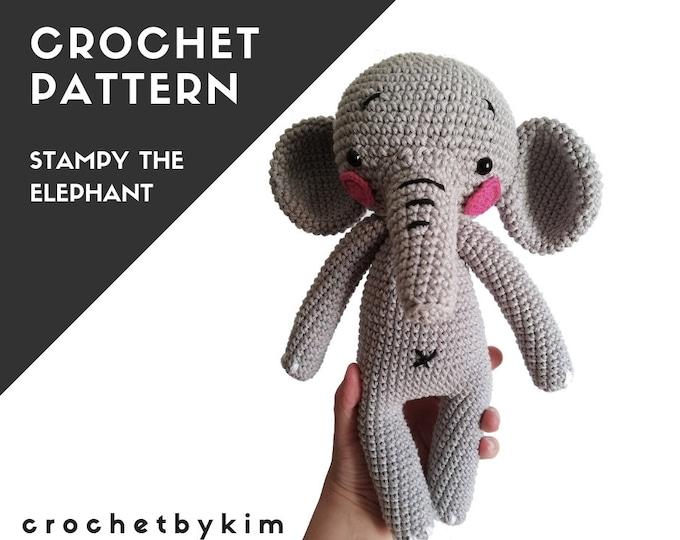 CROCHET PATTERN - amigurumi elephant - circus - zoo - stampy the elephant - handmade toy - easy pattern - crochetbykim