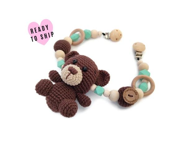 STROLLER CHAIN • teddy bear • woodland animals • amigurumi • crochet pram garland • kinderwagenkette • wagenspanner • Ready To Ship