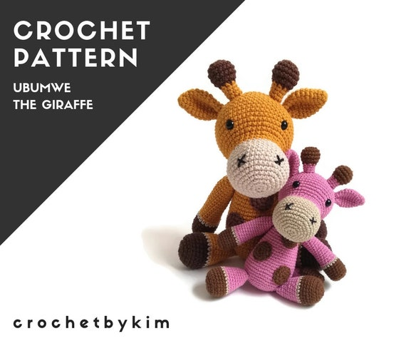 CROCHET PATTERN - amigurumi giraffe - Ubumwe - zoo - safari - jungle animal - amigurumi pattern - crochetbykim