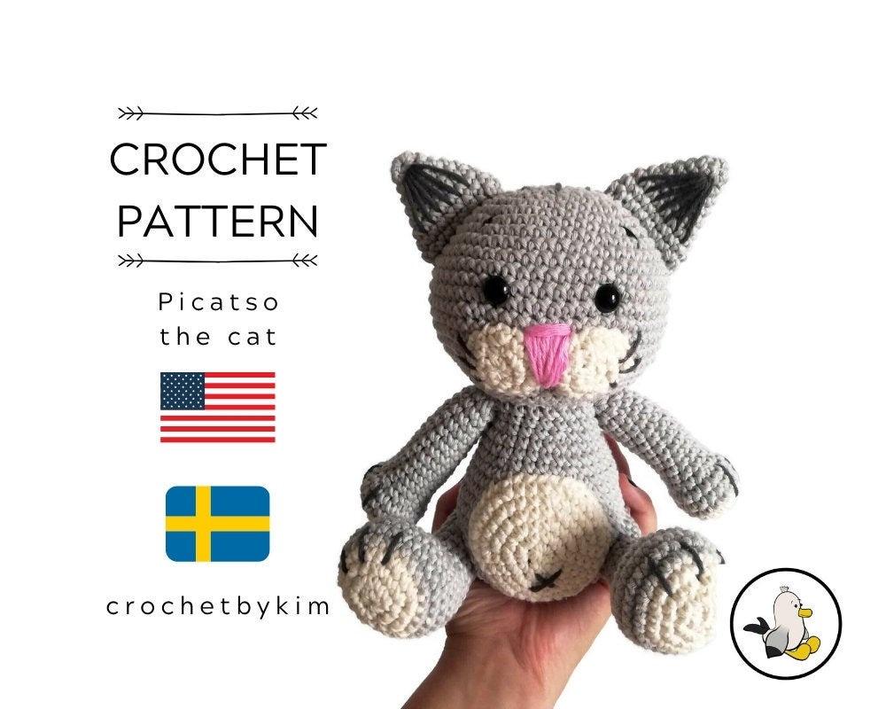 Free Amigurumi Pattern: Cube Kitty Cat pattern by Crafty Bunny Bun ... | 800x1000