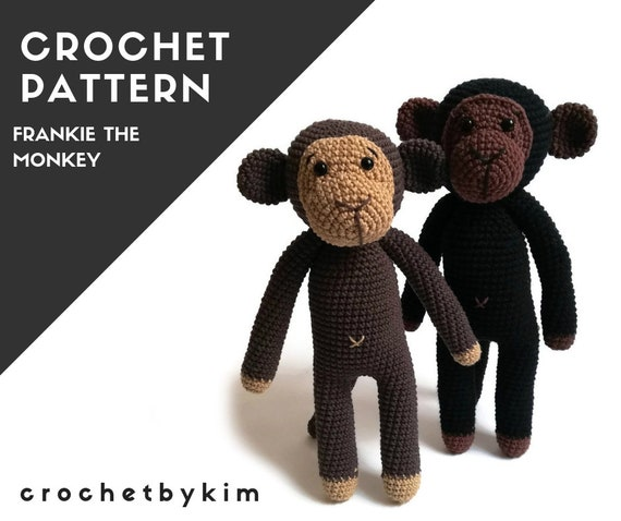 Pattern - amigurumi monkey - crochet monkey pattern - frankie the monkey - safari animals - jungle - zoo - monkey toy - diy - pdf