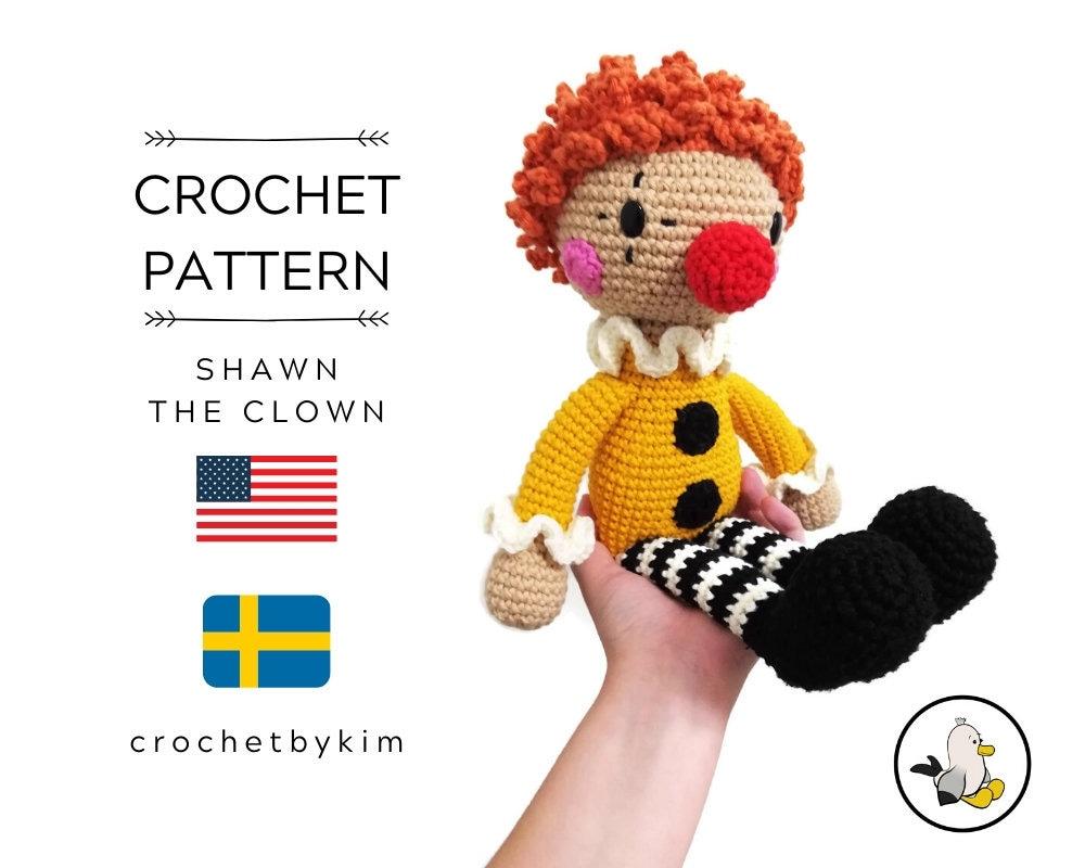 Amigurumi Clown Free Crochet English Pattern - Crochet.msa.plus | 800x1000