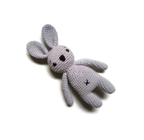 Crochet bunny - stuffed animal - bunny - easter bunny - handmade - plush - cotton - amigurumi - rabbit doll