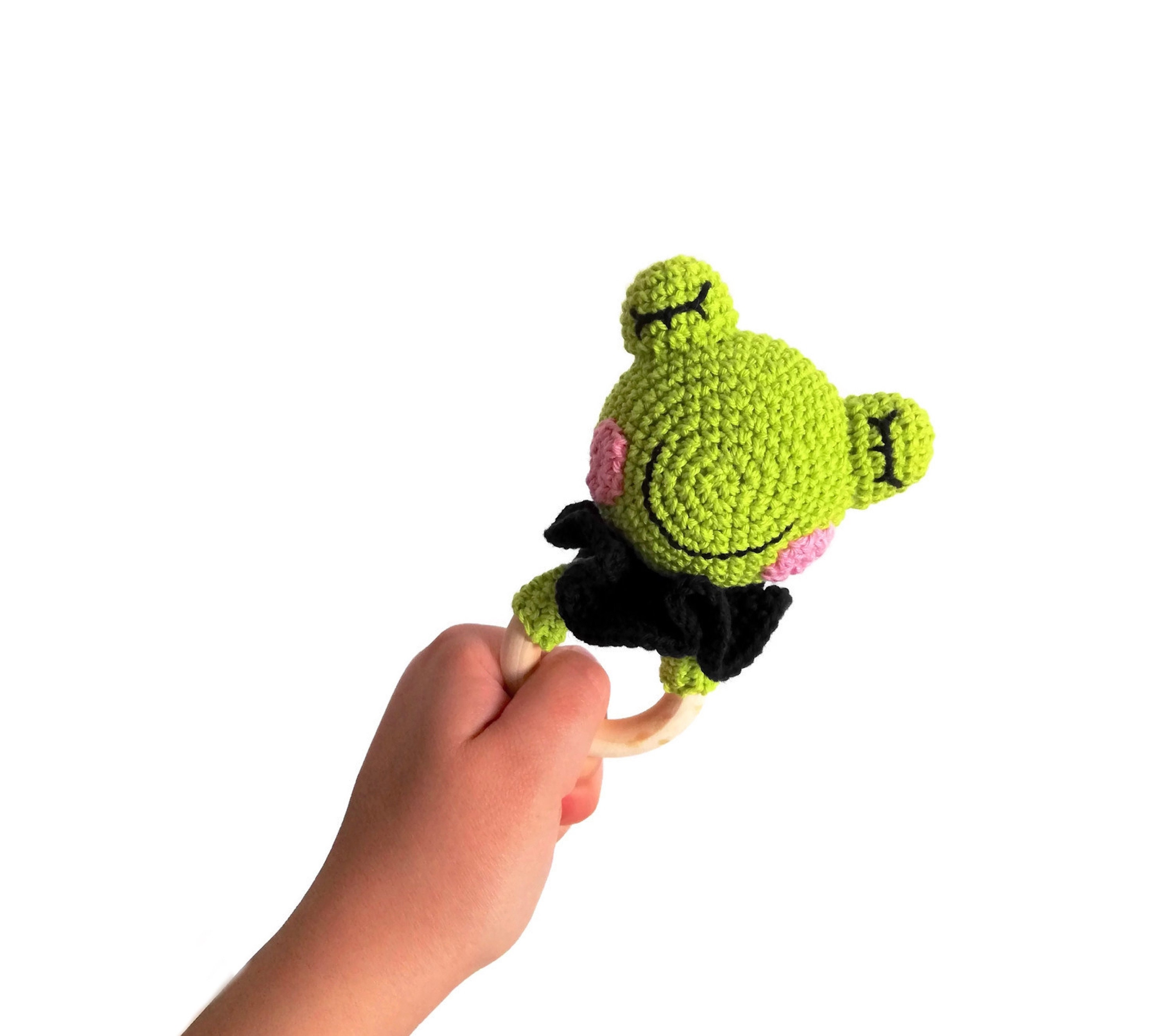 """Knitting Pattern For  Toy Animal Frog 4/"""" In Length"""