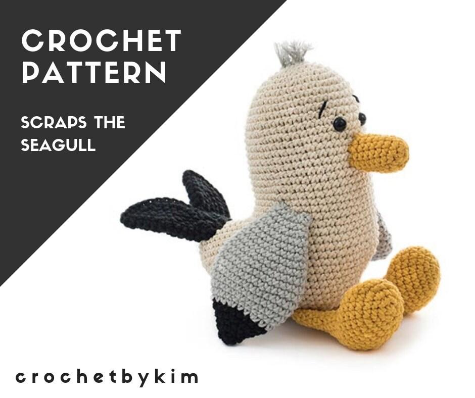 Crochet Pattern Scraps The Seagull Amigurumi Pattern Amigurumi