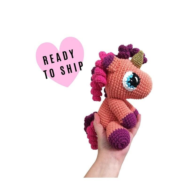 Handmade Crochet Unicorn Doll - Amigurumi Unicorn - Soft Toy ... | 800x800