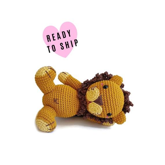Handmade crochet amigurumi lion • woodland animal • jungle animal • zoo • knitted lion • Safari Animal • CrochetByKim • READY TO SHIP