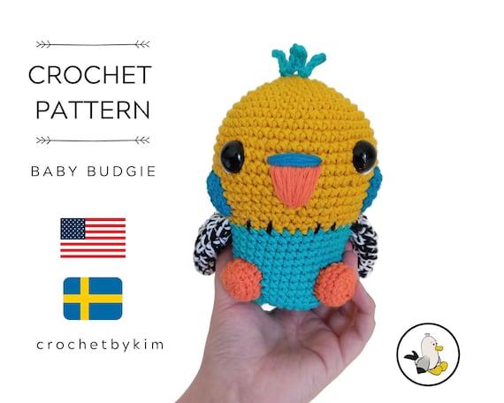 AMIGURUMI CROCHET PATTERN • Baby Budgie • Tropical bird • amigurumi bird • Parakeet Parrot • Kawaii bird • Budgerigar • Cockatoo •pdf