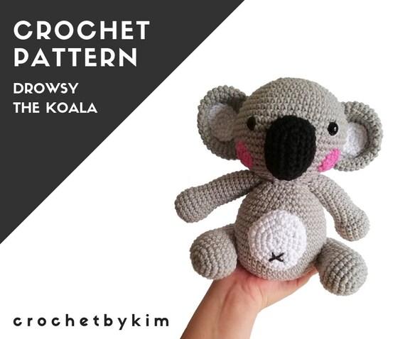 Amigurumi Koala Bear (in 3 sizes) Crochet Pattern PDF | Crochet bear, Easy  crochet patterns free, Stuffed animal patterns | 478x570