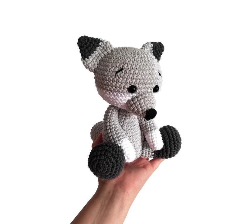 Amigurumi Wolf Crochet Pattern, cute stuffed animal, digital ... | 741x794