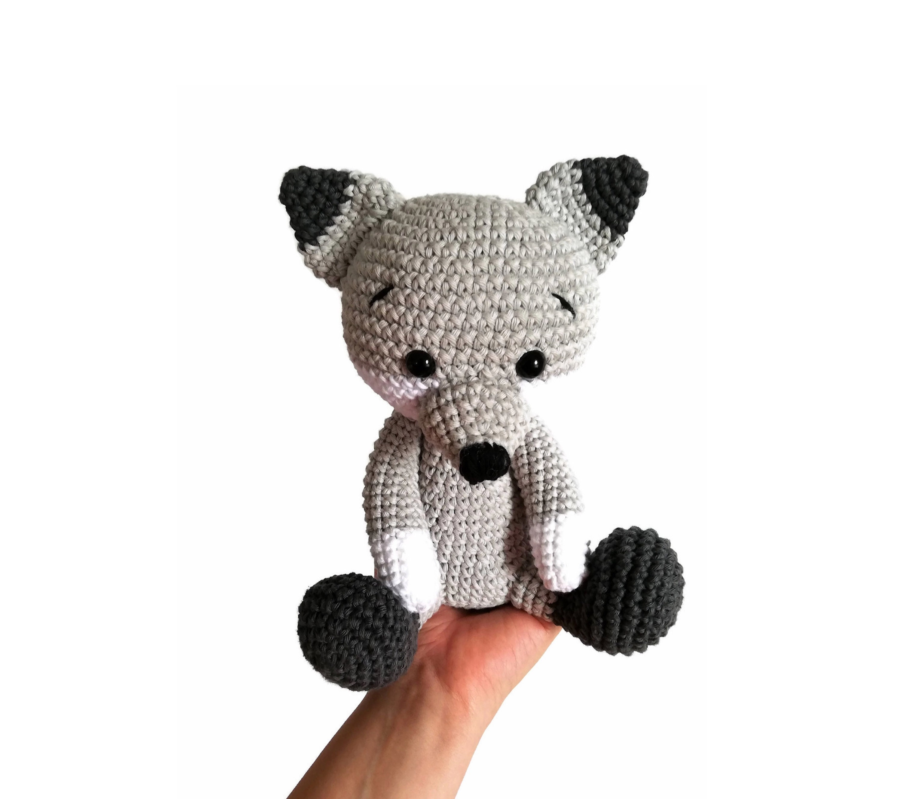 Wolf Stuffed Toy Doll Knitted Wolf Crochet Wolf Hand Knit Toy Grey ... | 2656x3000