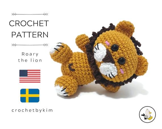 AMIGURUMI CROCHET PATTERN • Roary the lion • woodland animal • jungle • zoo • stuffed animal • Amigurumi Lion • Crochet safari animal