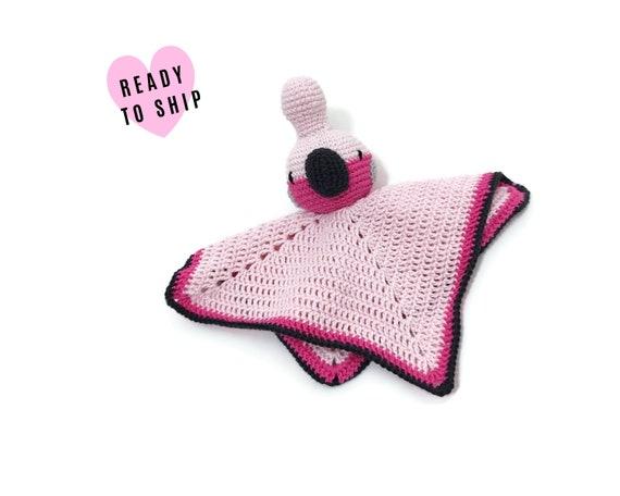 Crochet security blanket • lovey • snuggle • safety blanket Galah bird • Amigurumi Cockatiel • Stuffed cockatoo • Australian animals