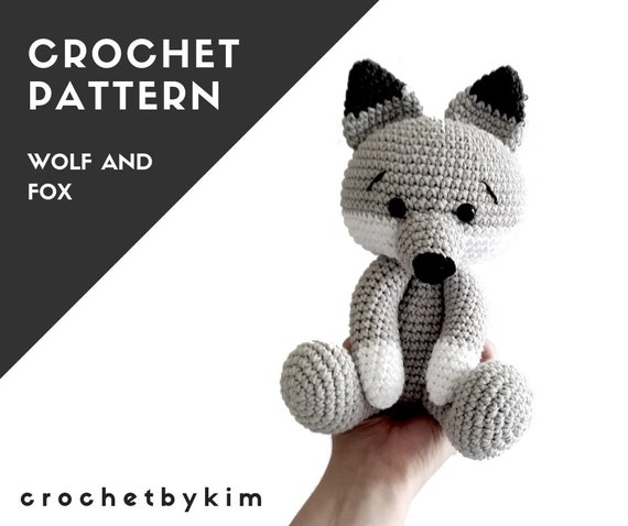 Pattern: wolf and fox amigurumi wolf crochet wolf fox | Etsy