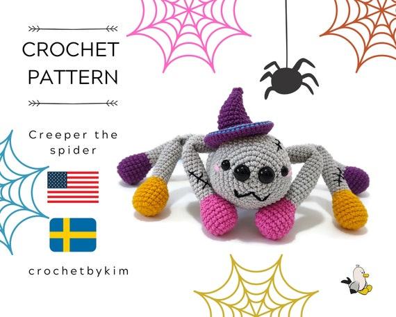 AMIGURUMI CROCHET PATTERN • Creeper Spider Halloween • Halloween amigurumi • Spooky toys • Halloween pattern • CrochetByKim • pdf pattern