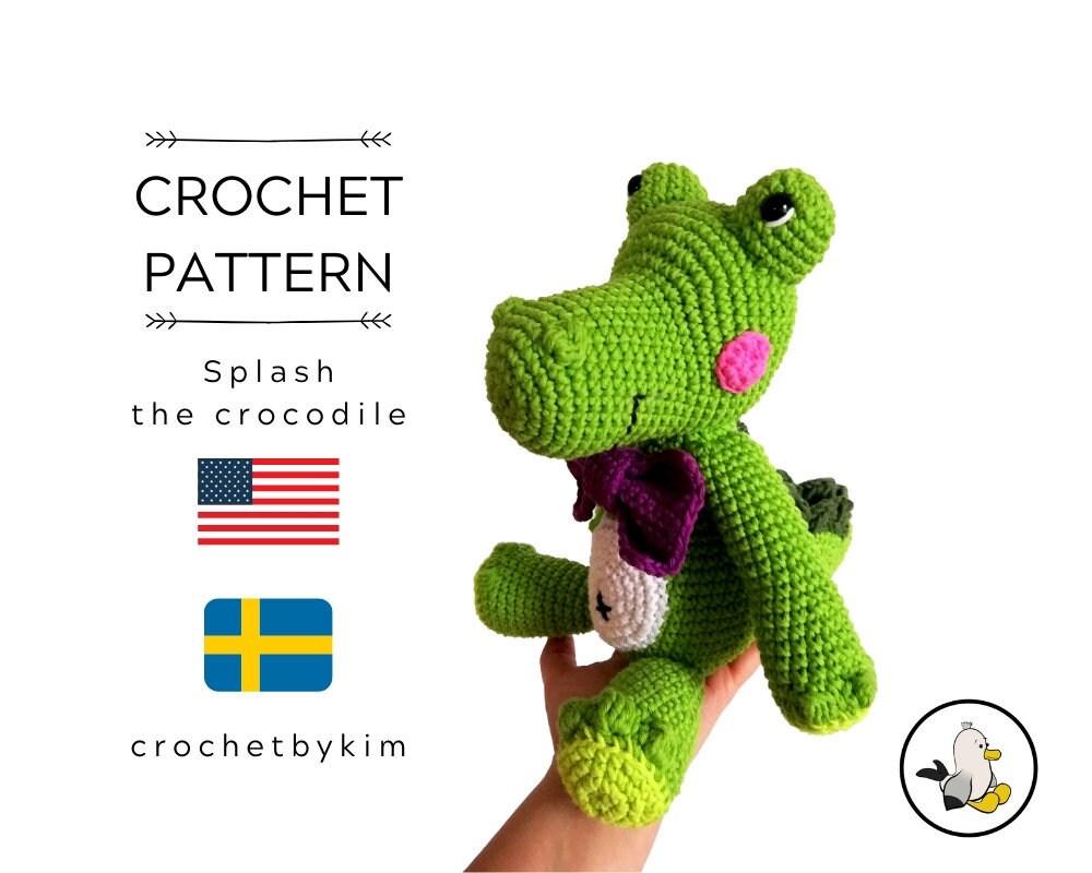 Crocodile Alfred Amigurumi Crochet Pattern | 800x1000