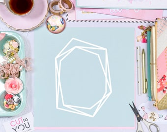 Diamond Frame SVG Digital Cut File perfect for all Paper crafting, Scrapbooking, Card making, Home Decor projects.