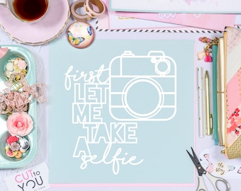 Selfie Camera Digital Cut File perfect for all Paper crafting, Scrapbooking, Card making, Home Decor projects.