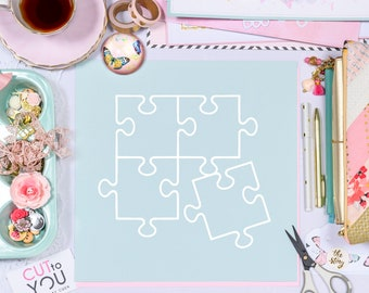 Puzzle Quad SVG Digital Cut File for all Scrapbooking with Silhouette Cameo, Cricut and Brother Cutting machines.