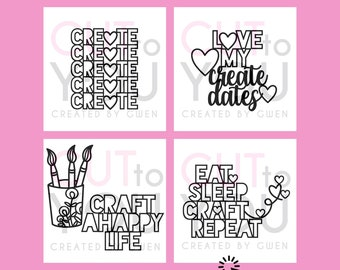 Craft SVG Cut File Bundle for Scrapbooking or Vinyl Projects. Perfect for Home Decor and Gifts using Cricut and Silhouette machines.