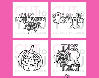 Halloween 2 SVG Cut File Bundle for Scrapbooking or Vinyl Projects. Perfect for Home Decor and Gifts using Cricut and Silhouette machines.