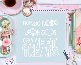 Sweets SVG Digital Cut File perfect for all Paper crafting, Scrapbooking, Card making, Home Decor projects.