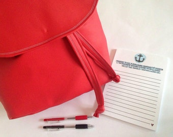 Backpack red Strawberry